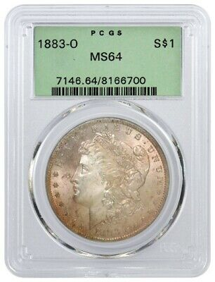 1883 O $1 Morgan Silver Dollar PCGS MS64 Toned Gen 3.1 Old Green Holder OGH