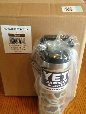 Brand New! Yeti Limited Edition CAMO 18 oz Bottle, Stainless Steel Thermos!