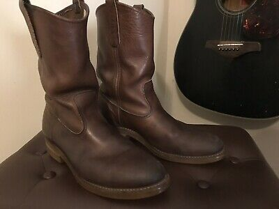 639cf038529 VTG RED WING Pecos Nailseat Pull-On Cowboy Engineer Boots 1155 Men's Sz 10D