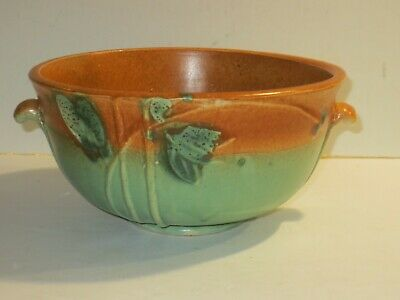 Antique Roseville? Weller? Art Deco Pottery Bowl With Berries And Leaves