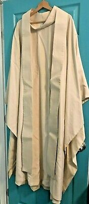 Beautiful Catholic Priests Ivory Chasuble & Stole Slabbinck Of Belgium