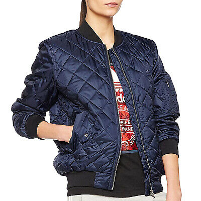 796d4fe8c3df5 adidas Originals Womens Bomber Trefoil Casual Fashion Quilted long Sleeve  Jacket