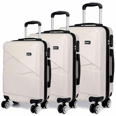 """New Travel Luggage 4 Wheels Trolley Suitcase Bag Hard Shell Hand Case milky 20"""""""