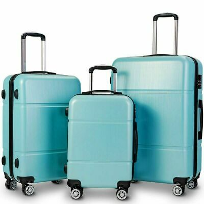 """New Travel Luggage 4 Wheels Trolley Suitcase Bag Hard Shell Hand Case Green 24"""""""