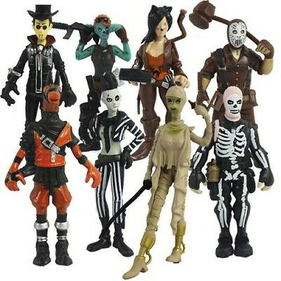 #A# lot of 8 Fortnight Fortnite Action Figure Model Toy Anime figures 9cm-11cm A