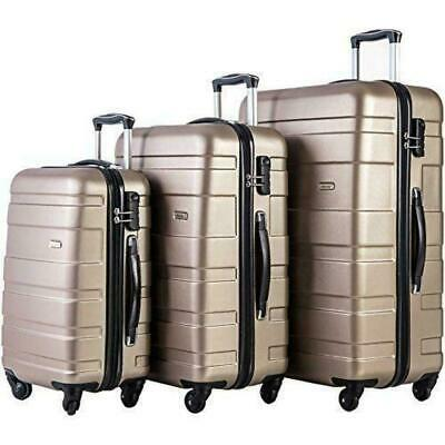 3Pcs Luggage 20 Inch 24 Inch and 28 Inch 3-Piece Suitcase Spinner Set #07