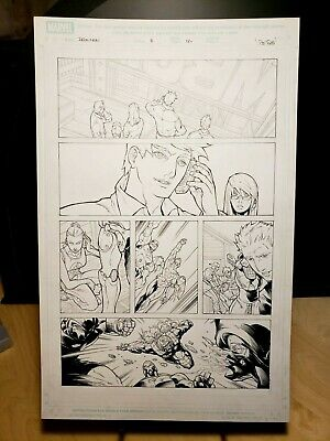 Iron Man House of M Issue #3 Page 12 Original Art Work by Pat Lee Marvel Comics