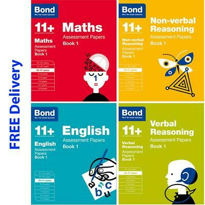 Bond 11+ Plus 10-11 Year Assessment Papers 4 books English Maths Mixed Skills
