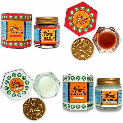 Original TIGER Red White Balm Thai Massage Ointment Relief Muscle Ache Pain
