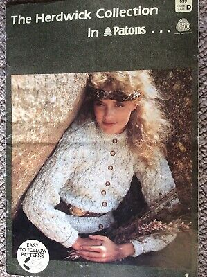 Vintage Patons Knitting Pattern Book 699 The Herdwick Collection in Patons