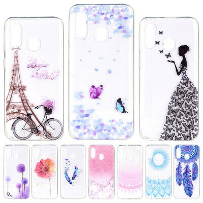 For Samsung A30 A40 A50 A70 A20E M30 Slim Painted Case Soft Silicone Back Cover