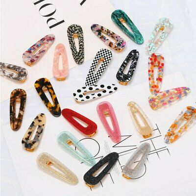 New Fashion Women's Hair Slide Clips Snap Barrette Hairpin Pins Hair Accessories