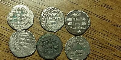 Lot of 6 Silver Islamic Medieval Coins - Free U.S. S/H