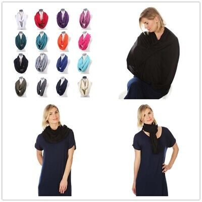 New 2in1 Nursing Scarf Breastfeeding & Baby Car Seat Cover Up Canopy Cover Shawl
