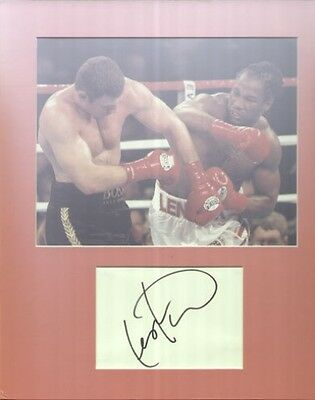 LENNOX LEWIS Boxing Champion Autograph Signed & Matted UACC DEALER (A)