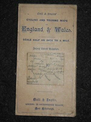 Gall and Inglis Map of Somerset & Dorset - c1895 - South Coast, Cycling/Touring