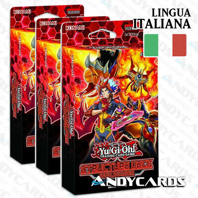 3x Structure Deck Soulburner ITALIANO☻ SDSB YUGIOH ANDYCARDS