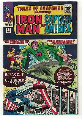 Marvel comics Tales of Suspense 62  Iron man Origin Mandarin FN 6.0 avengers