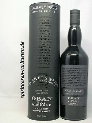 Game of Thrones Oban Bay Reserve The Night`s Watch 0,7 L. 43% Whisky