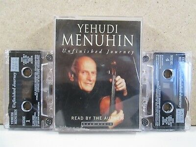 YEHUDI MENUHIN- The Unfinished Journey Audiobook Story of 1996 2 x Cassette