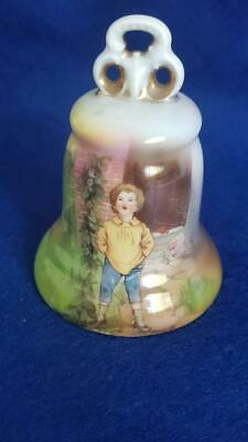 Pretty 1930s Royal Bayreuth Jack and The Beanstalk Table Bell