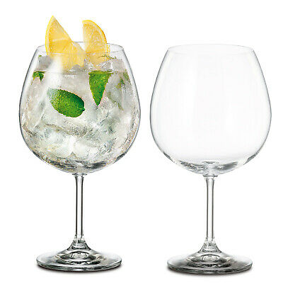 Large Gin and Tonic Glass BOHEMIA CRYSTAL Glasses G&T Wine 820ml Balloon Party