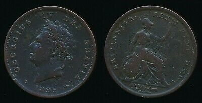 1825 George IV.....Copper PENNY..........Fast Post