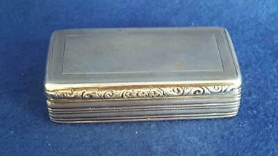 Superior Victorian Antique Sterling Silver Engine Turned Snuff Box Ldn 1846 69g