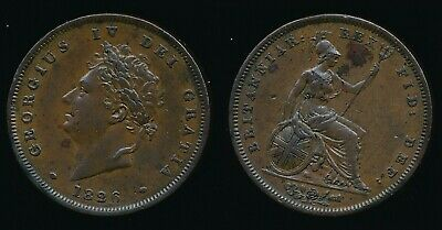 1826 George IV.....Copper PENNY....Reverse C - Thick Line......Fast Post