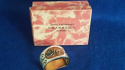 C20th Andresen & Scheinpflug (Nor) Gilt & Enamelled Sterling Silver Napkin Ring