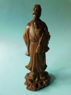 Finely Carved Antique Chinese Wood statue Wise Man Immortal Figure