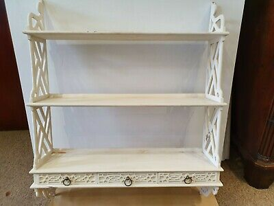 A Pair of 3 Drawer Waterfall Bookcases