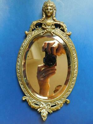 Superb very early Victorian Brass Framed heavy Bevelled Wall Vanity Mirror 1800s