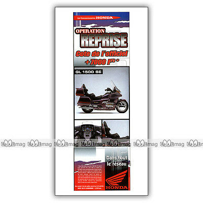 PUB HONDA GL 1500 SE GOLDWING - Original Advert  / Publicité Moto de 1997