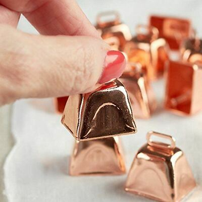 Natural Star Package of 24 Copper Colored 1 Inch Metal Cowbells