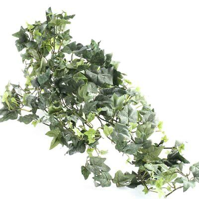Lightly Flocked Artificial Variegated Greenery Bush