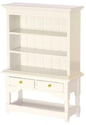 Dolls House Shabby Chic White Dresser Miniature Kitchen Dining Room Furniture