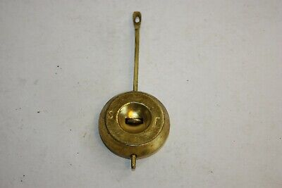 Antique Vintage Brass Clock Pendulum, Mantle, Wall Clock for Spares or Repairs