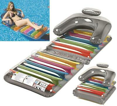 """Jilong Inflatable Folding Swimming Pool Lilo Lounger Or Chair Adults 75"""" X 30"""""""