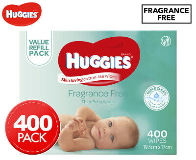 Huggies Thick Baby Wipes Fragrance Free 400-Pack