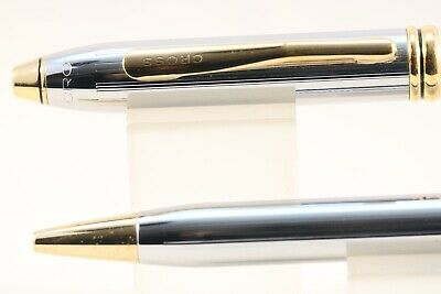 Cross Townsend Medalist Ballpoint Pen with Gold Trim, Boxed