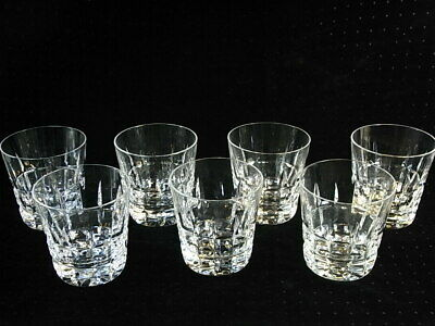 Ancien Lot 7 Verre Whisky Cristal De Saint Louis Taille Glass Verrerie