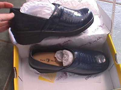 DUCK HEAD NURSING WORK CLOGS BLACK SIZE 9 1//2 M SMOOTH  BECKY WOMENS SHOES NEW