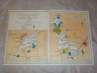 1959 Map Of Mining Holdings Of Free State Ltd Orange Free State S. Africa  #23