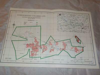 1959 Map Of Underground Workings Consolidated Collieries Coal Mines S.africa #25