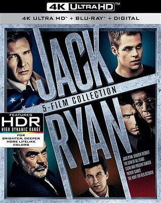 JACK RYAN 5 FILM COLLECTION New Sealed 4K Ultra HD UHD + Blu-ray