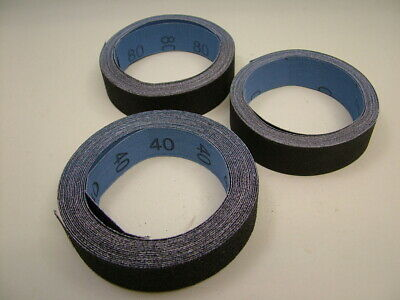 Emery Cloth Roll 25mm wide x 5 metre Pack of 3 40/80/150 grit fine/medium/coarse
