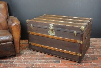 Beautiful Antique Steamer Trunk by EDURAD ENDL WIEN