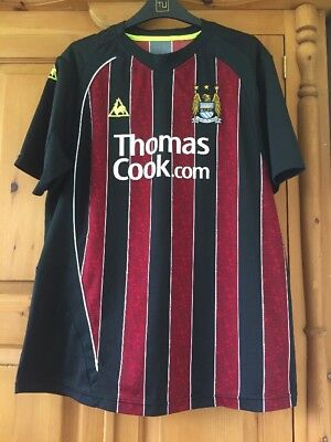 Manchester City away football shirt size L Le Coq Sportif 2008-2009