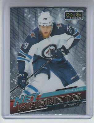 18/19 OPC Platinum Winnipeg Jets Patrik Laine Net Magnets card #NM-8